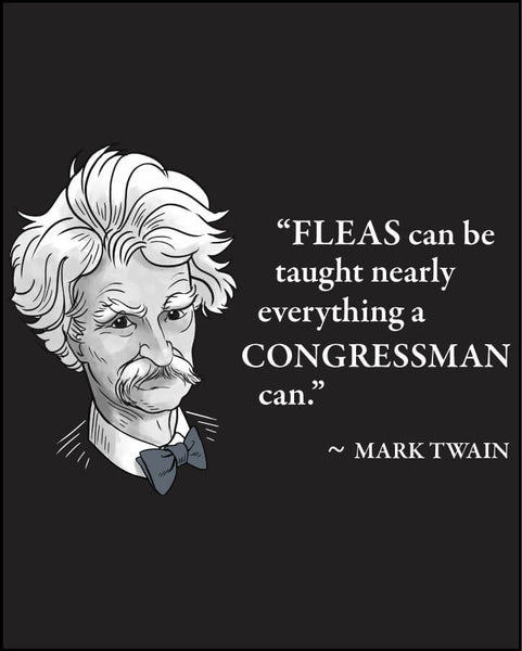 Mark Twain on Congressmen - Men's Edition - Black - Both