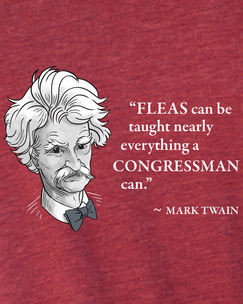 Mark Twain on Congressmen - Men's Edition - Cardinal Red Heathered - Both