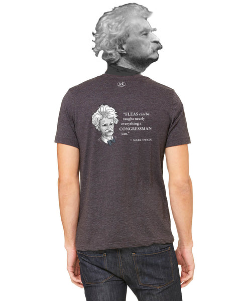 Mark Twain on Congressmen - Men's Edition - Dark Grey Heathered - Back