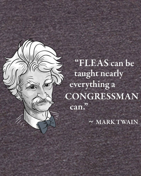 Mark Twain on Congressmen - Men's Edition - Dark Grey Heathered - Both