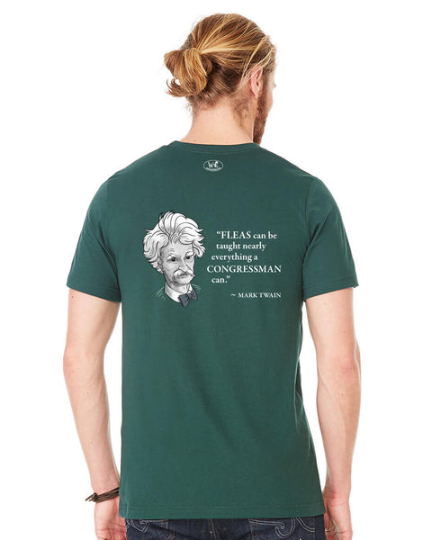 Mark Twain on Congressmen - Men's Edition - Forest Green Heathered - Back