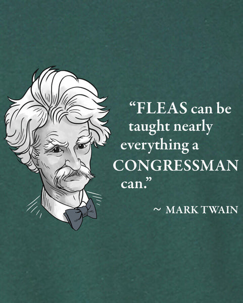 Mark Twain on Congressmen - Men's Edition - Forest Green Heathered - Both