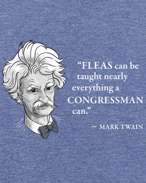 Mark Twain on Congressmen - Men's Edition - Navy Blue Heathered - Both