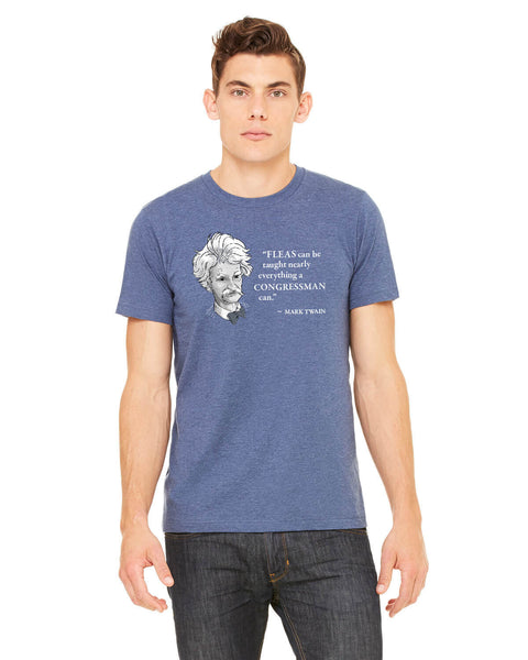 Mark Twain on Congressmen - Men's Edition - Navy Blue Heathered - Front