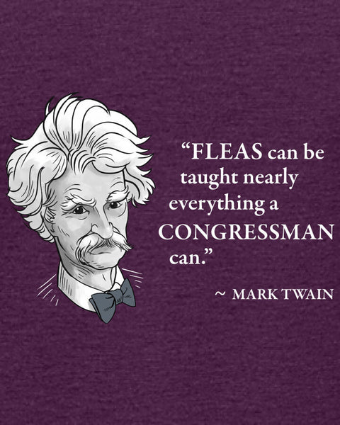 Mark Twain on Congressmen - Women's Edition - Aubergine Heathered