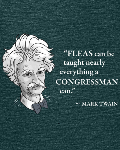 Mark Twain on Congressmen - Women's Edition - Dark Green Heathered