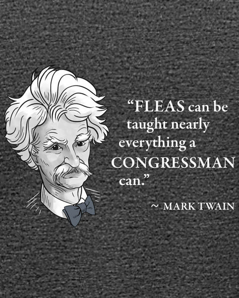 Mark Twain on Congressmen - Women's Edition - Dark Grey Heathered