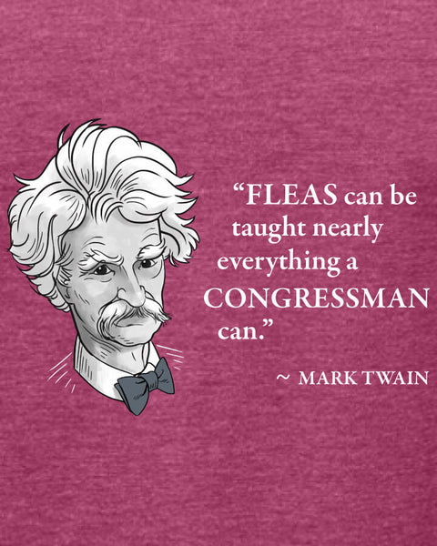 Mark Twain on Congressmen - Women's Edition - Raspberry Heathered