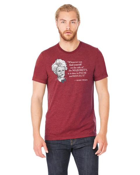 Mark Twain on the Majority - Men's Edition - Cardinal Red Heathered - Front
