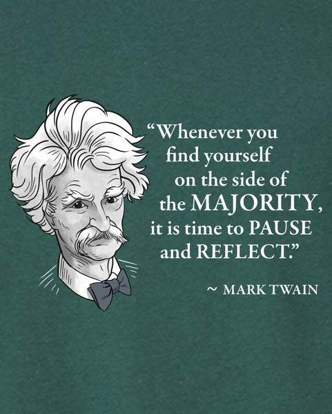 Mark Twain on the Majority - Men's Edition - Forest Green Heathered - Both