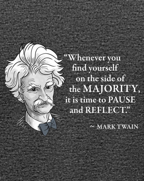 Mark Twain on the Majority - Women's Edition - Dark Grey Heathered