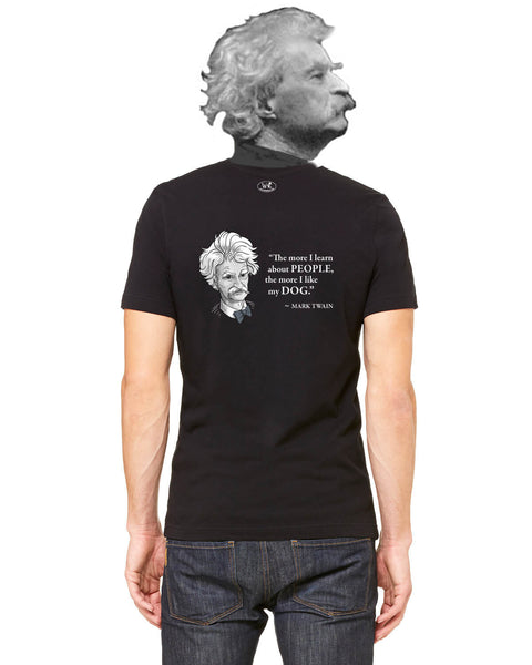 Mark Twain on Dogs - Men's Edition - Black - Back