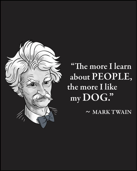 Mark Twain on Dogs - Men's Edition - Black - Both