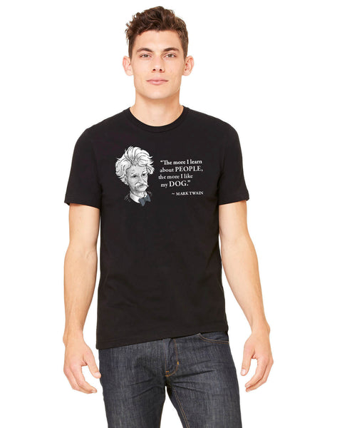 Mark Twain on Dogs - Men's Edition - Black - Front