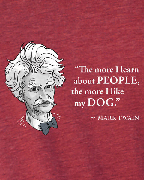 Mark Twain on Dogs - Men's Edition - Cardinal Red Heathered - Both