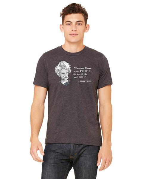 Mark Twain on Dogs - Men's Edition - Dark Grey Heathered - Front