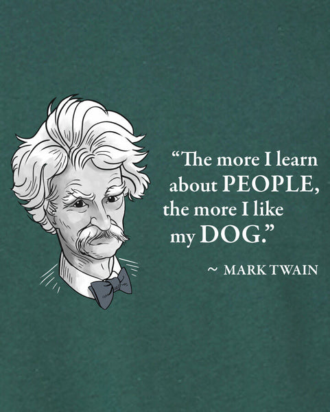 Mark Twain on Dogs - Men's Edition - Forest Green Heathered - Both