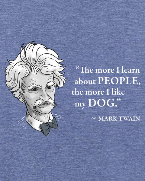 Mark Twain on Dogs - Men's Edition - Navy Blue Heathered - Both