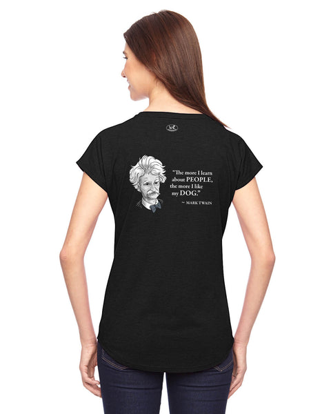 Mark Twain on Dogs - Women's Edition - Black