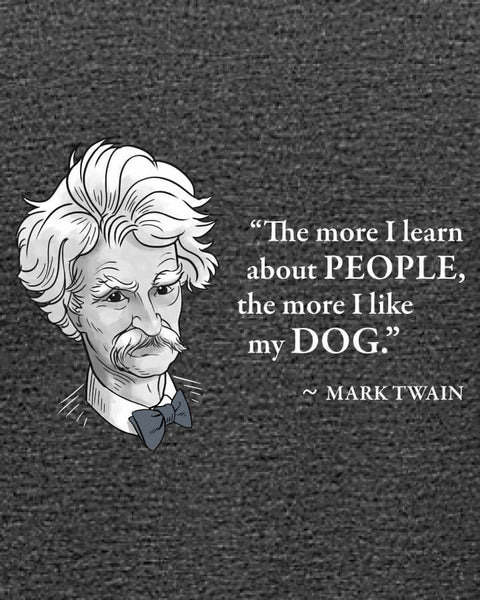 Mark Twain on Dogs - Women's Edition - Dark Grey Heathered