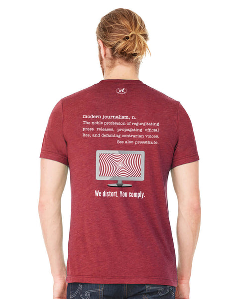 Modern Journalism - Men's Edition - Cardinal Red Heathered - Back