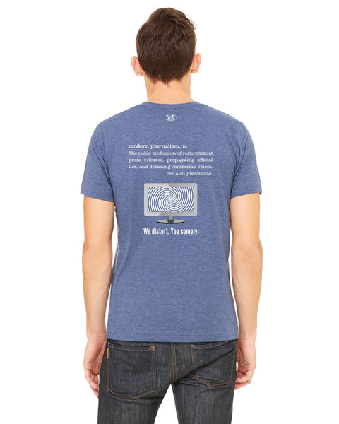 Modern Journalism - Men's Edition - Navy Blue Heathered - Back