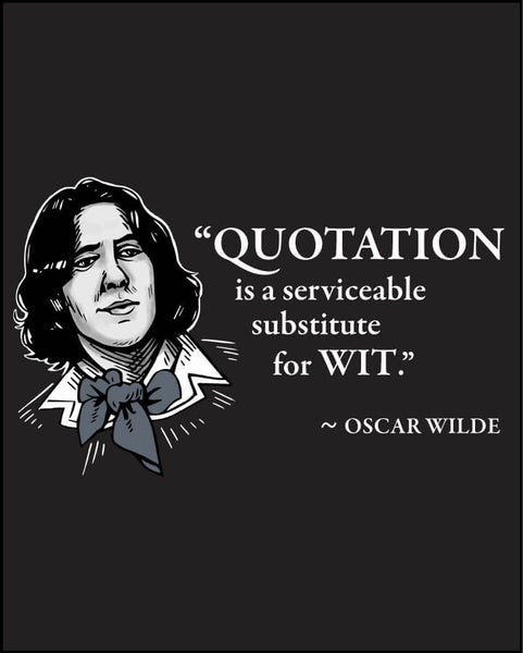 Oscar Wilde on Quotation - Men's Edition - Black - Both