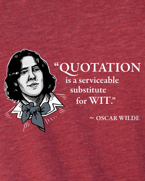 Oscar Wilde on Quotation - Men's Edition - Cardinal Red Heathered - Both