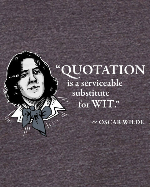 Oscar Wilde on Quotation - Men's Edition - Dark Grey Heathered - Both