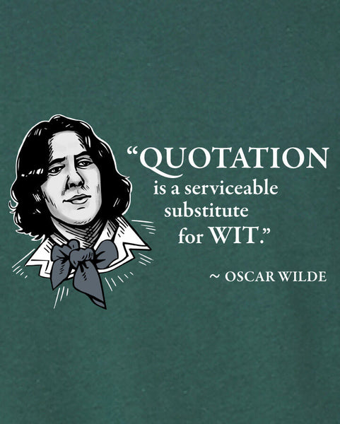 Oscar Wilde on Quotation - Men's Edition - Forest Green Heathered - Both