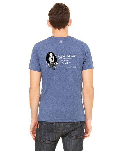 Oscar Wilde on Quotation - Men's Edition - Navy Blue Heathered - Back