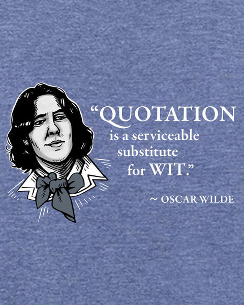 Oscar Wilde on Quotation - Men's Edition - Navy Blue Heathered - Both