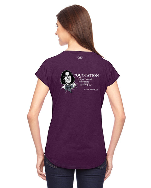 Oscar Wilde on Quotation - Women's Edition - Aubergine Heathered