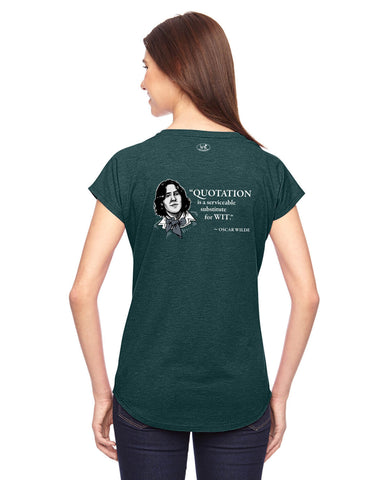 products/Oscar-Wilde-Quotation-Tee-Shirt-Womens-Dark-Green-Back.jpg