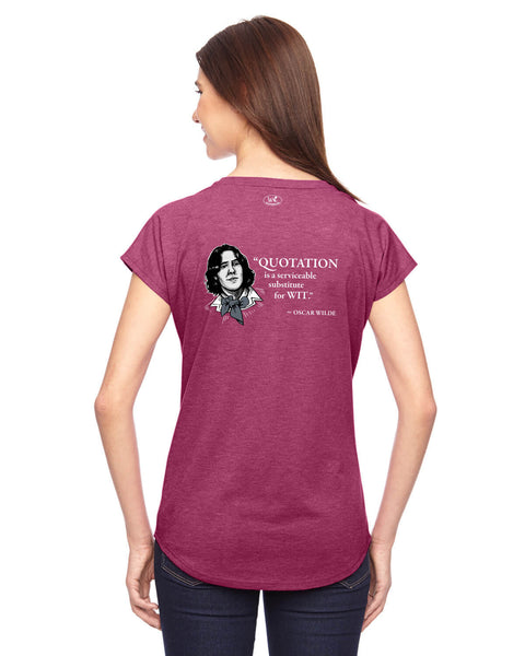Oscar Wilde on Quotation - Women's Edition - Raspberry Heathered