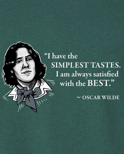 Oscar Wilde on Simple Tastes - Men's Edition - Forest Green Heathered - Both