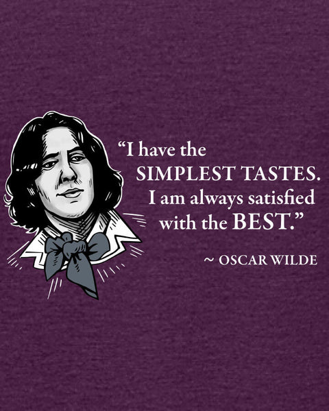 Oscar Wilde on Simple Tastes - Women's Edition - Aubergine Heathered