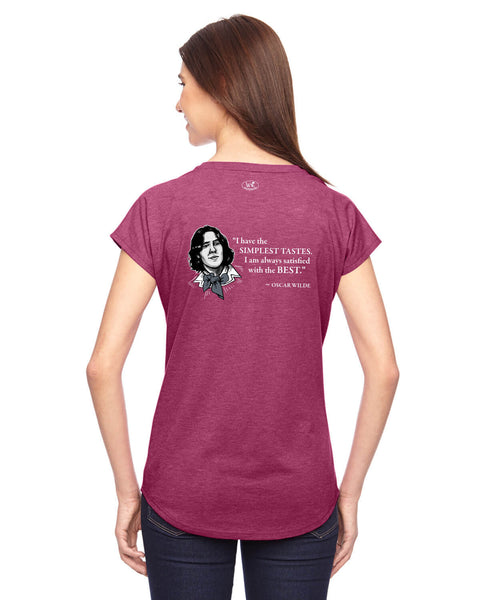 Oscar Wilde on Simple Tastes - Women's Edition - Raspberry Heathered