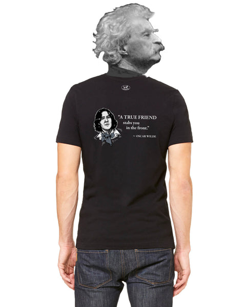 Oscar Wilde on True Friends - Men's Edition - Black - Back