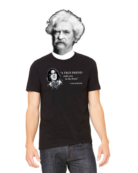Oscar Wilde on True Friends - Men's Edition - Black - Front