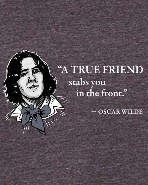 Oscar Wilde on True Friends - Men's Edition - Dark Grey Heathered - Both