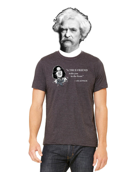 Oscar Wilde on True Friends - Men's Edition - Dark Grey Heathered - Front