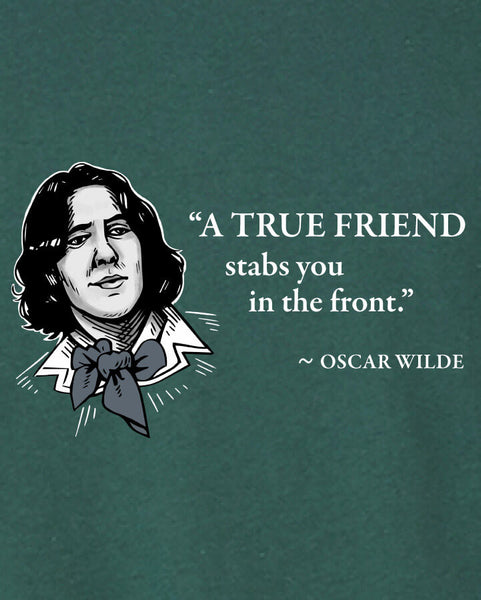 Oscar Wilde on True Friends - Men's Edition - Forest Green Heathered - Both