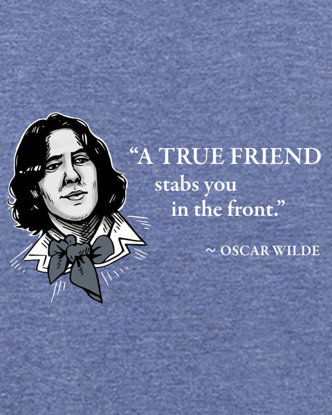 Oscar Wilde on True Friends - Men's Edition - Navy Blue Heathered - Both