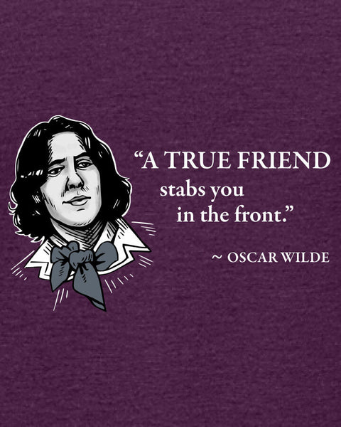 Oscar Wilde on True Friends - Women's Edition - Aubergine Heathered