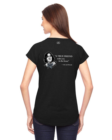 products/Oscar-Wilde-True-Friends-Tee-Shirt-Womens-Black-Back.jpg