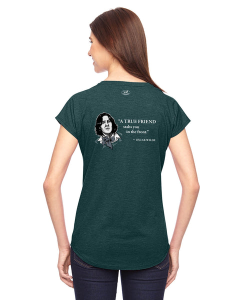 Oscar Wilde on True Friends - Women's Edition - Dark Green Heathered