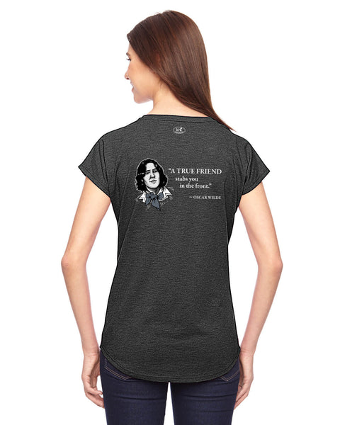 Oscar Wilde on True Friends - Women's Edition - Dark Grey Heathered