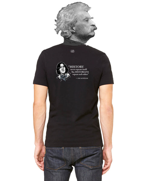 Oscar Wilde on Historians - Men's Edition - Black - Back