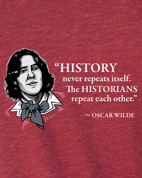 Oscar Wilde on Historians - Men's Edition - Cardinal Red Heathered - Both